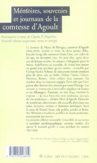 Mémoires, souvenirs et journaux de la comtesse d'agoult