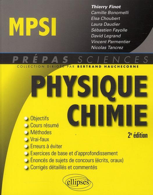 Physique-chimie ; MPSI (2e édition)