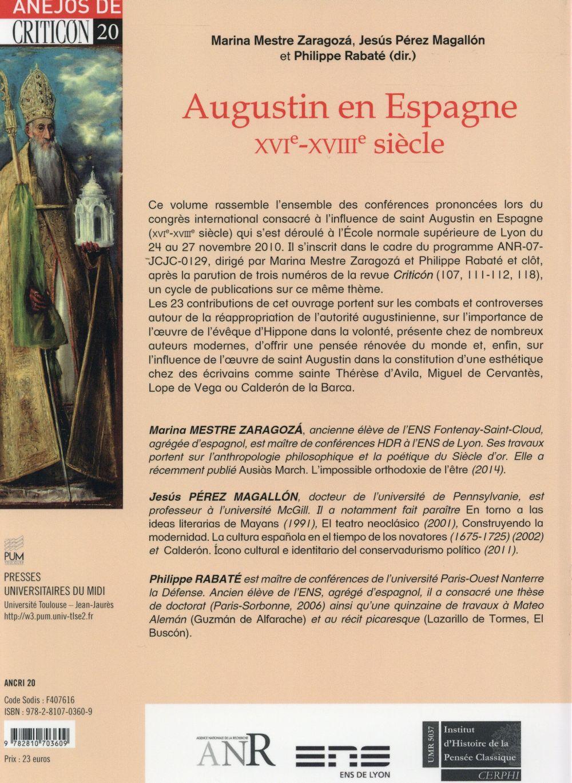 Augustin en Espagne (XVI-XVIIIe siècle)