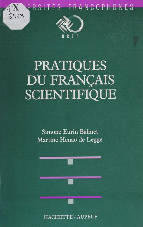Pratiques du francais scientifique