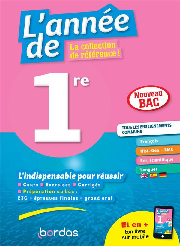 L'ANNEE DE  -  1ER  -  TOUS LES ENSEIGNEMENTS COMMUNS (EDITION 2020)