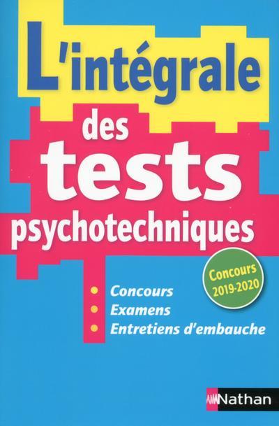 SIMONIN ELISABETH - L'INTEGRALE DES TESTS PSYCHOTECHNIQUES (EDITION 20192020)