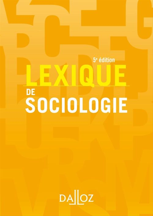 Lexique de sociologie (5e édition)