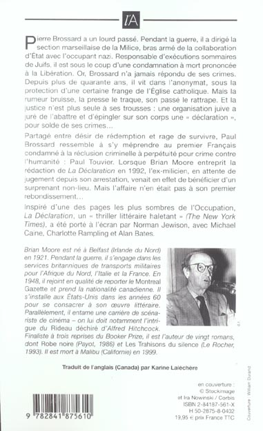 La declaration ; the statement