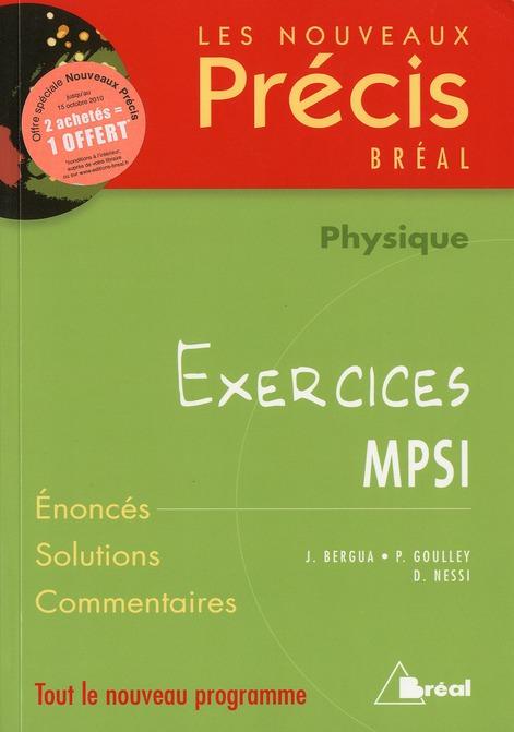 Sciences Physiques Mpsi; Physique ; Exercices ; Mpsi