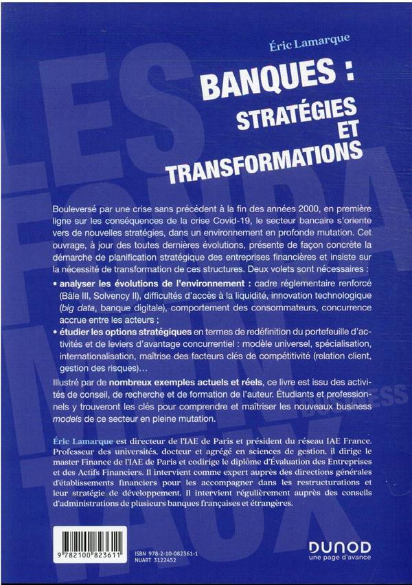 Banques : stratégies et transformations (2e édition)