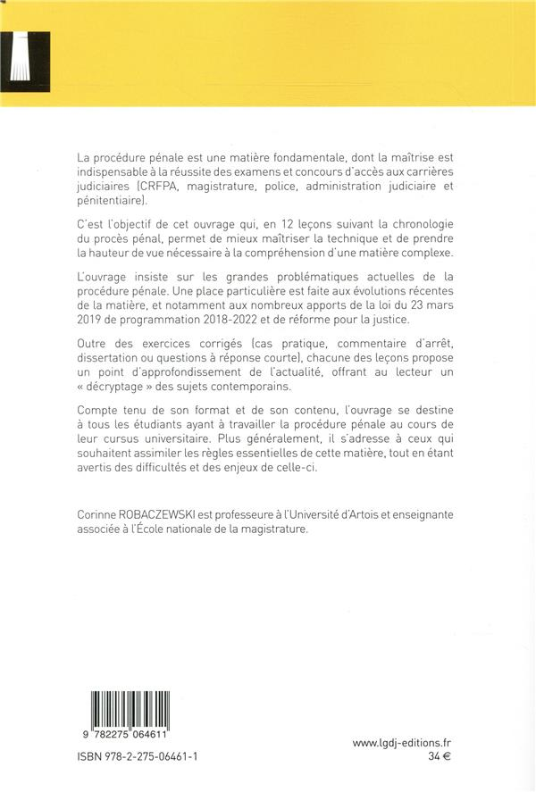 Procédure pénale ; examen du CRFPA (édition 2019)