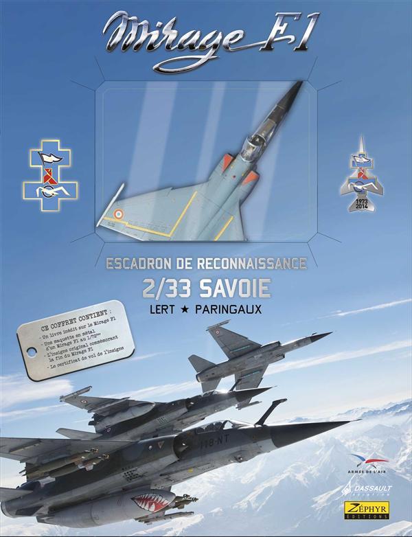 Mirage F-1 t.2 ; escadron de reconnaissance 2/33 Savoir ; coffret