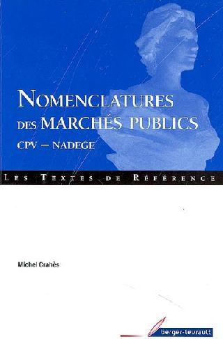Nomenclature Des Marches Publics ; Cpv-Nadege