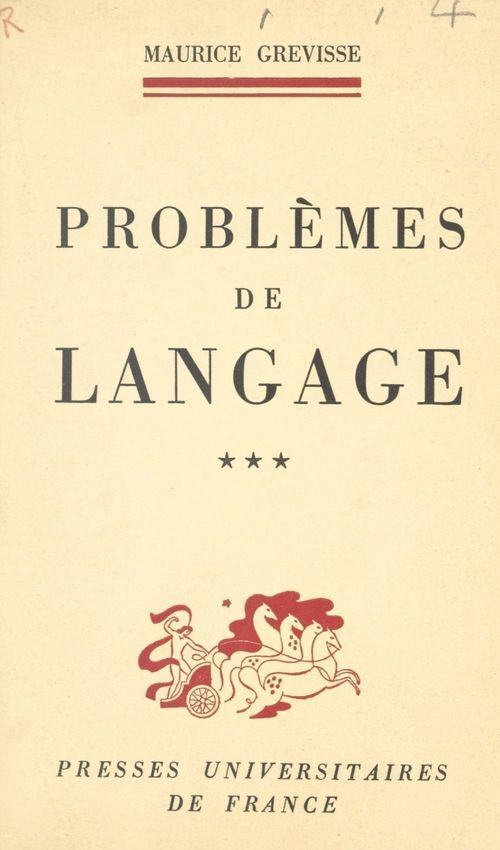 Problèmes de langage (3)