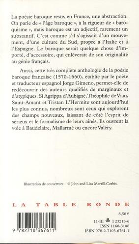 Mon âme, il faut partir ; anthologie de la poésie baroque française