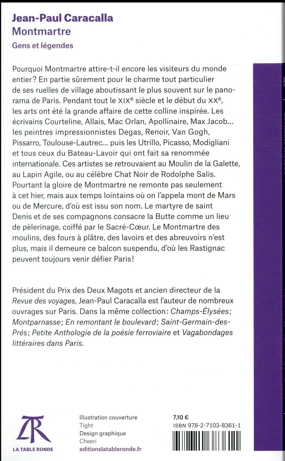 Montmartre ; gens et légendes