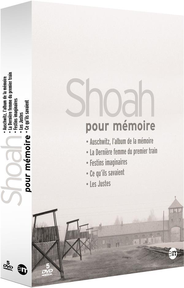 Shoah pour mémoire - Coffret : Auschwitz, l'album de la mémoire + La Dernière femme du premier train + Festins imaginaires + Ce qu'ils savaient + Tzedek : les justes
