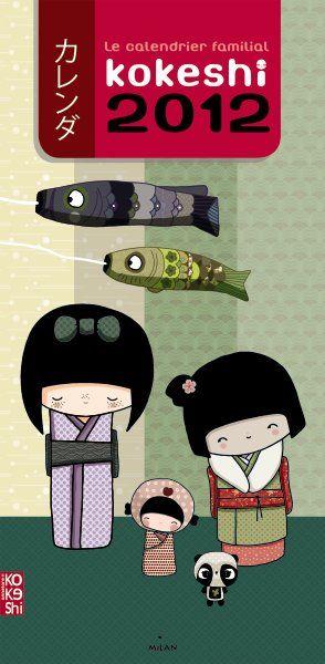 Le calendrier familial kokeshi 2012