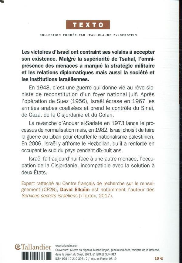 Histoire des guerres d'Israël ; de 1948 à nos jours