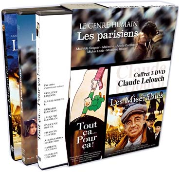 Claude Lelouch - Coffret n° 3 (3 DVD)