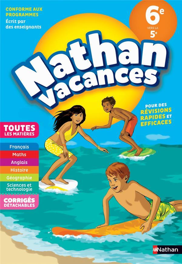 NATHAN VACANCES ; toutes les matières ; de la 6e vers la 5e (édition 2018)
