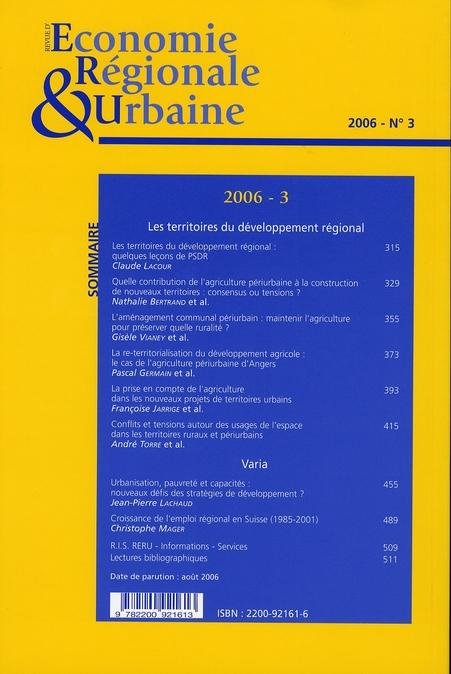 économie régionale urbaine   (édition 3/2006)