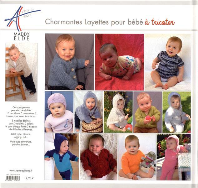 Charmantes layettes pour bébé à tricoter