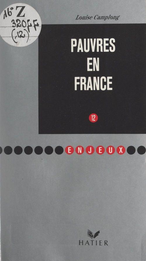 Pauvres en France