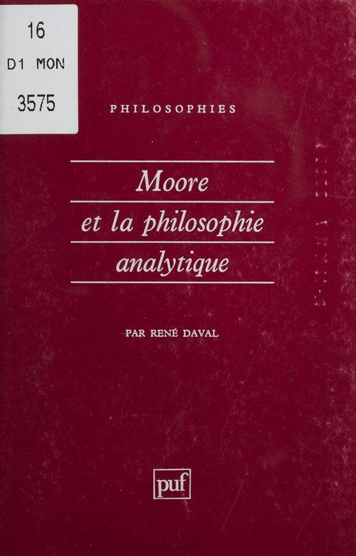 Moore et la philosophie analytique
