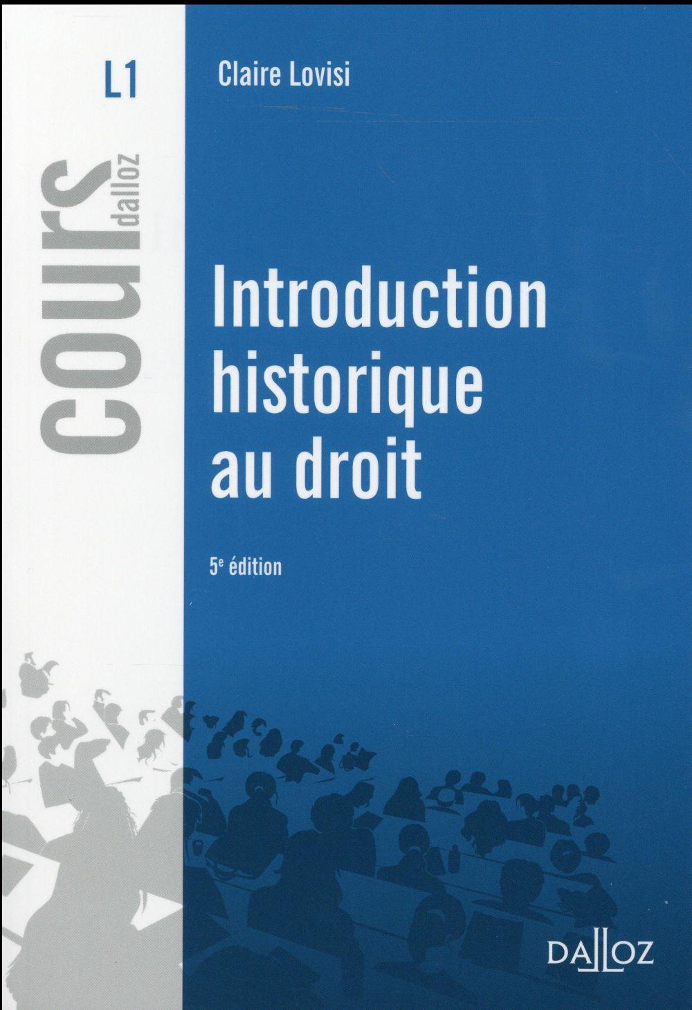 Introduction historique au droit (5e édition)