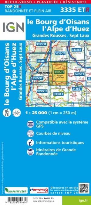 3335ETR ; le Bourg d'Oisans, l'Alpe d'Huez (3e édition)