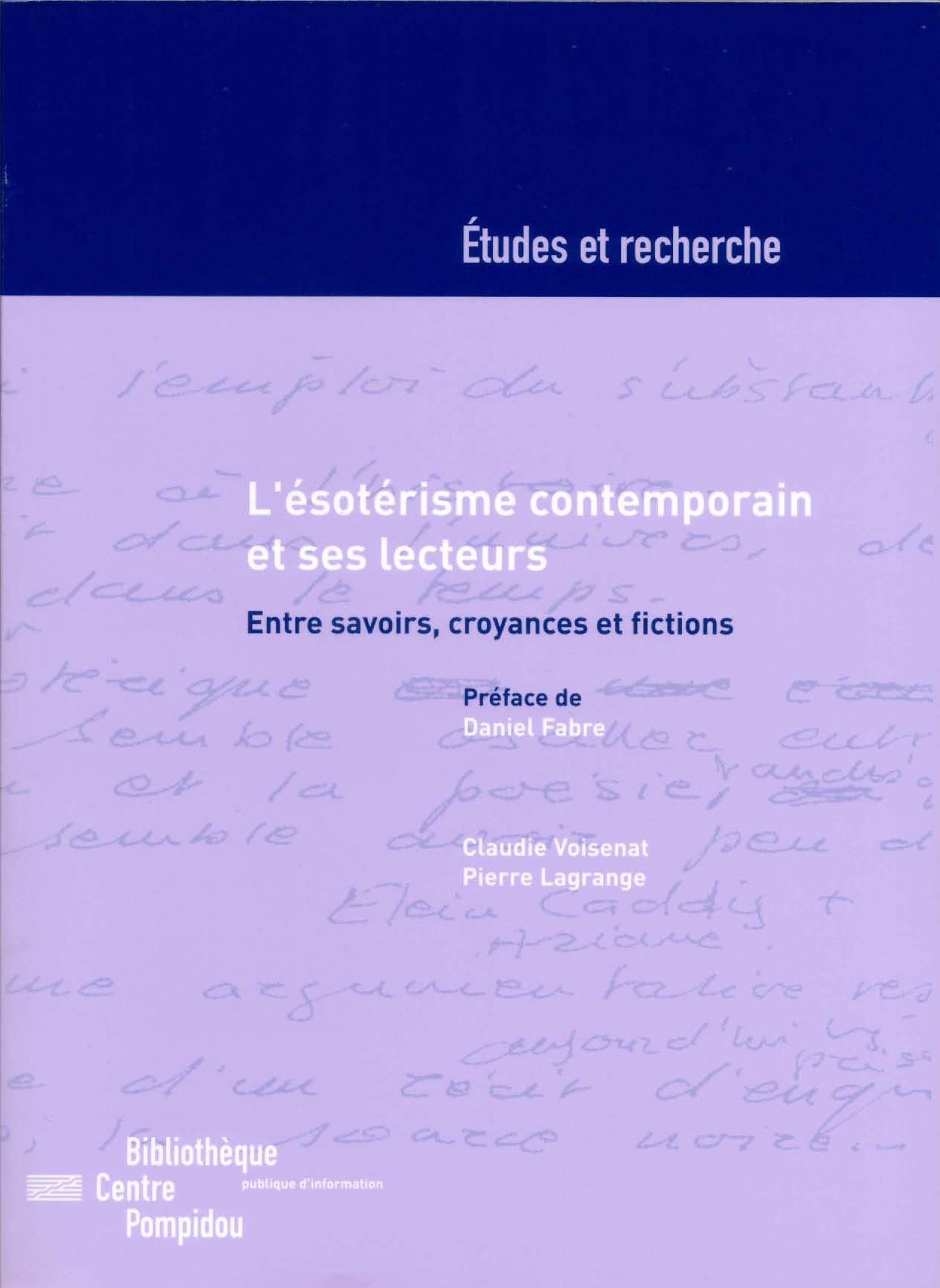 L´ésotérisme contemporain et ses lecteurs