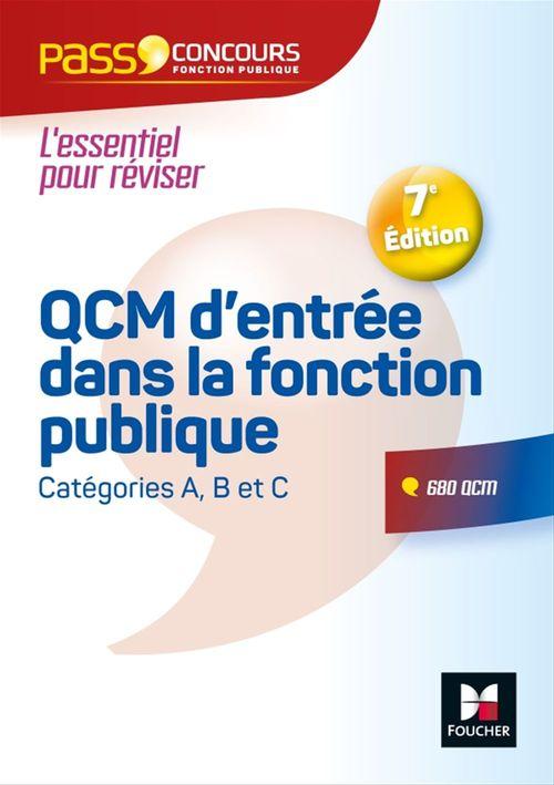 Pass'Concours - QCM d'entrée dans la fonction publique - 7e édition  - Révision et entrainement