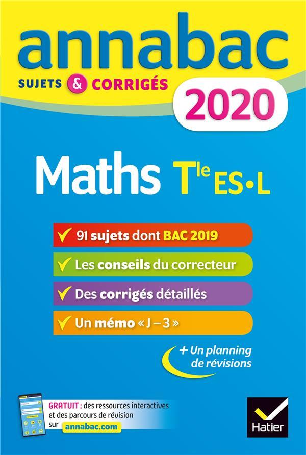 Annabac ; Maths ; Terminale Es, L