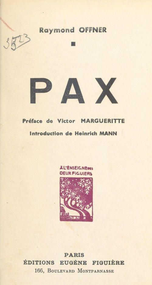 Pax  - Raymond Offner