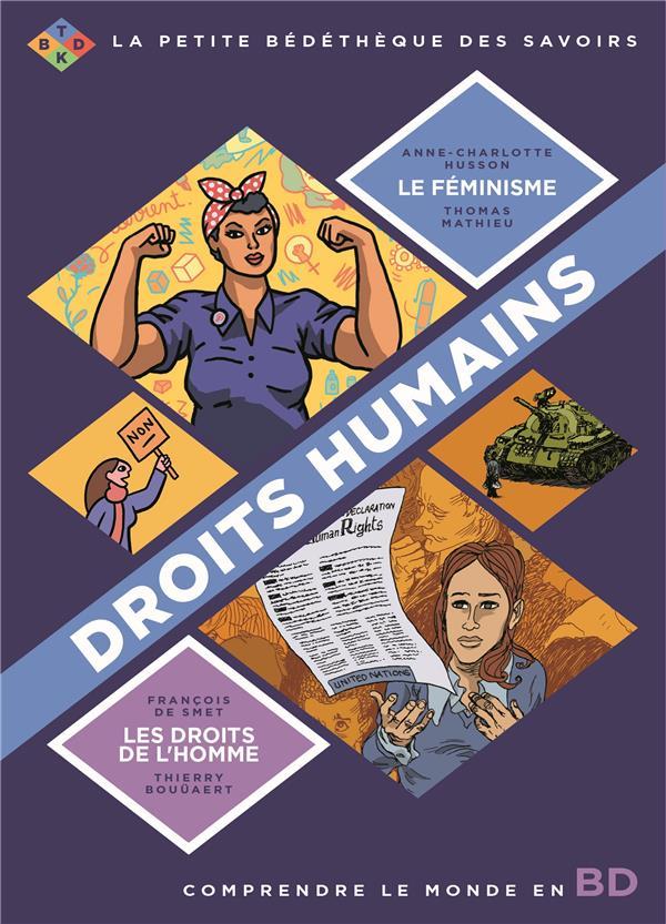La petite bédéthèque des savoirs ; COFFRET ; comprendre le monde en BD ; droits humains ; le féminisme, les droits de l'Homme