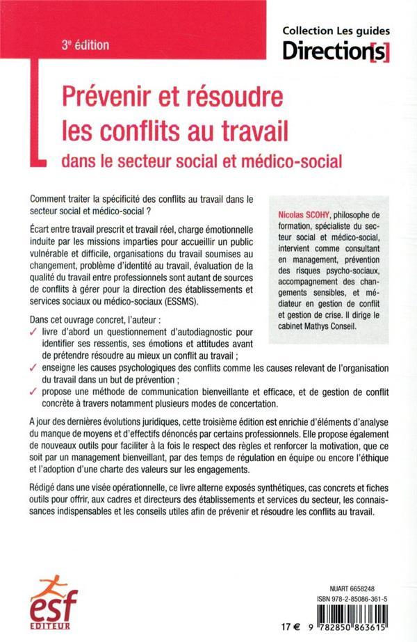 Prévenir et résoudre les conflits au travail dans le secteur social et médico-social (3e édition)