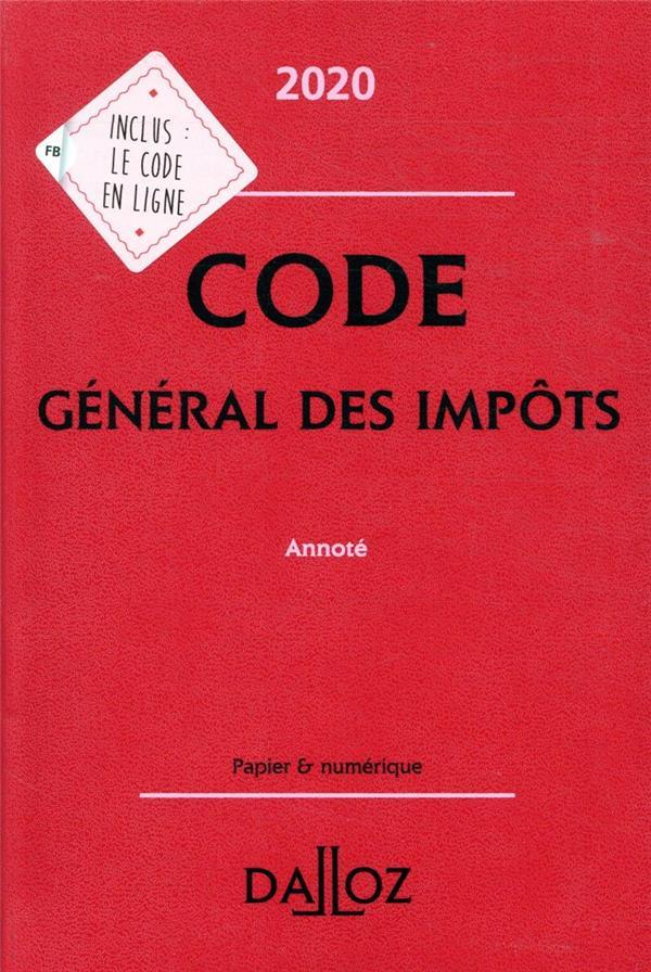 Code général des impôts, annoté (édition 2020)
