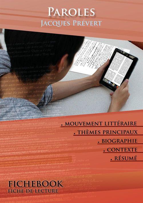 Fiche de lecture Paroles - Résumé détaillé et analyse littéraire de référence