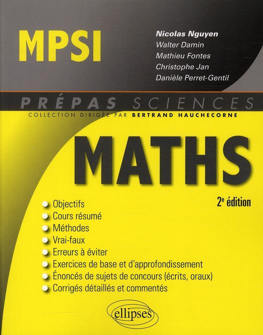 Mathématiques ; MPSI (2e édition)