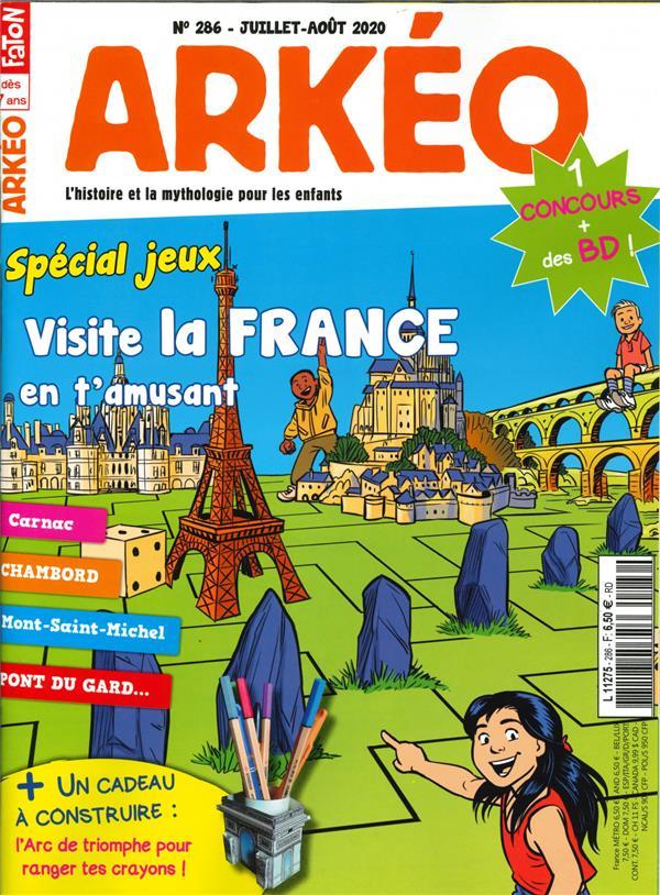 Arkeo junior n  286 -special jeux - juillet/aout 2020