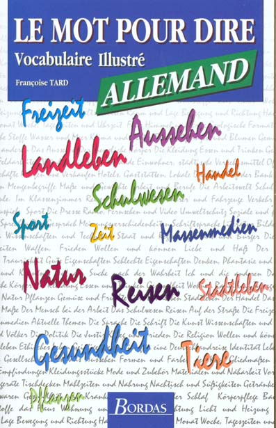 Le mot pour le dire, vocabulaire illustre allemand