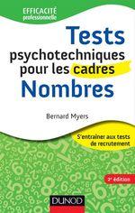 Vente EBooks : Tests psychotechniques pour les cadres - 2e éd. - Nombres  - Bernard Myers