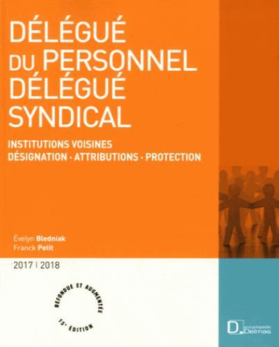 Délégué du personnel, délégué syndical ; désignation, attributions, protection (15e édition) (édition 2017/2018)