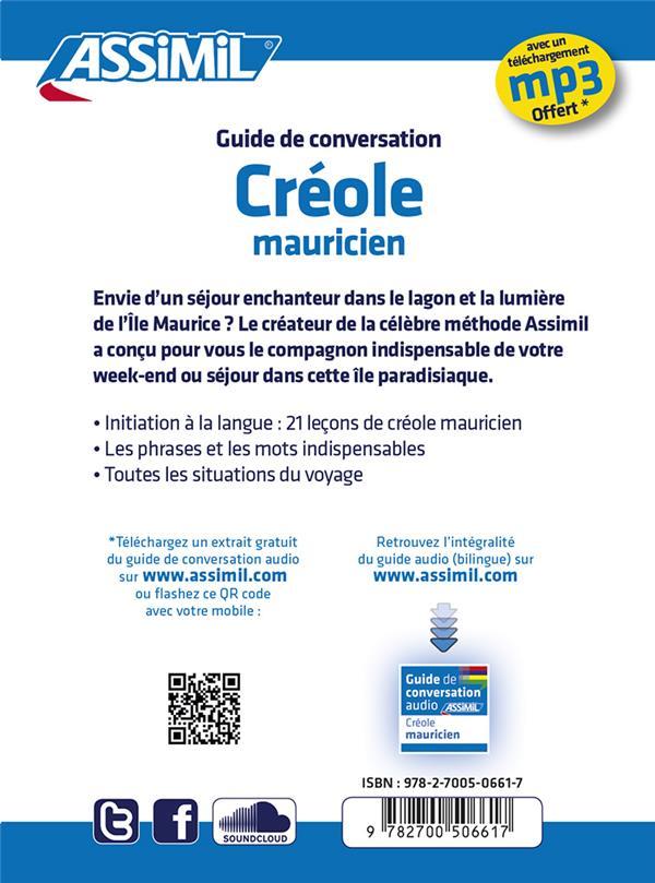 Guides de conversation ; créole mauricien