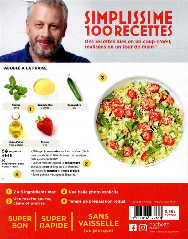 simplissime ; 100 recettes : recettes fraîcheur pour grosses chaleurs