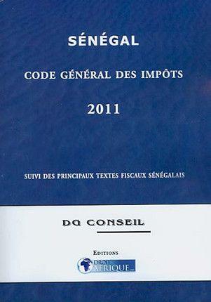 Sénégal, code général des impôts 2011