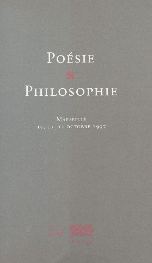 Poesie et philosophie
