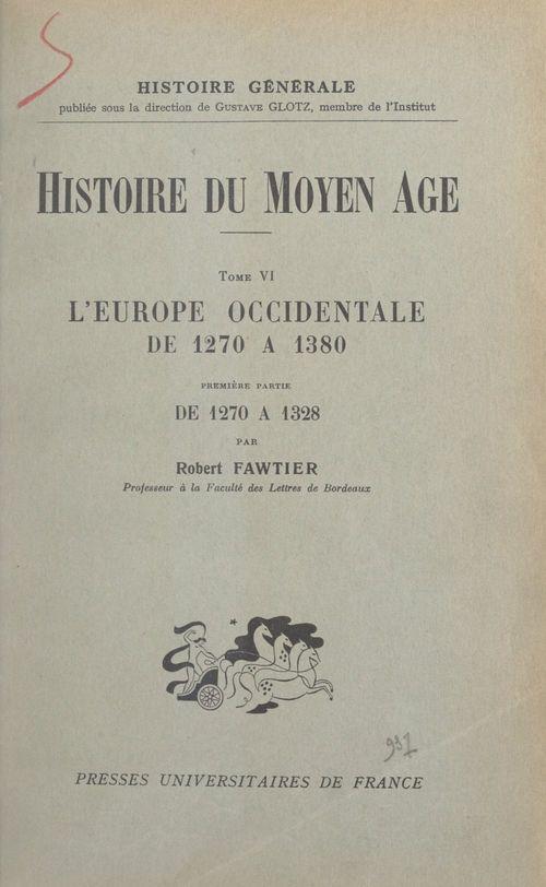 Histoire du Moyen Âge (6)
