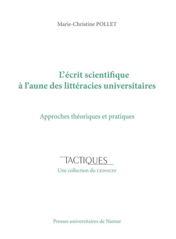 L'écrit scientifique à l'aune des littéracies universitaires