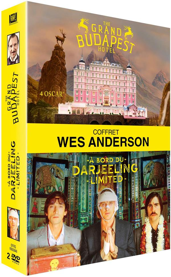 coffret Wes Anderson 2 films : the Grand Budapest Hotel ; à bord du Darjeeling Limited