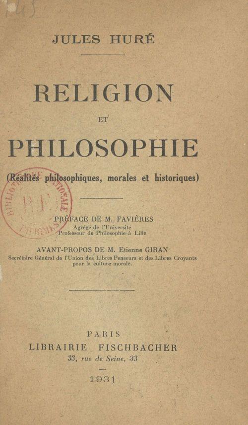 Religion et philosophie