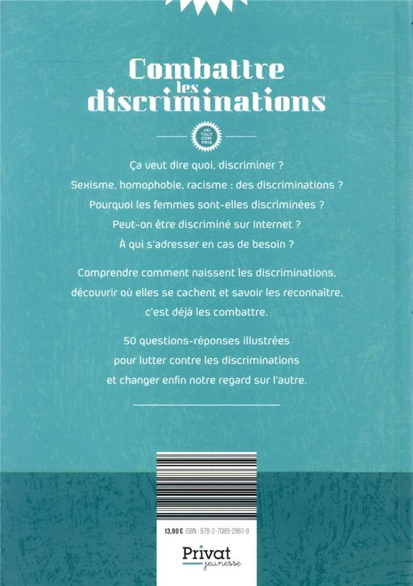 Combattre les discriminations ; j'ai tout compris