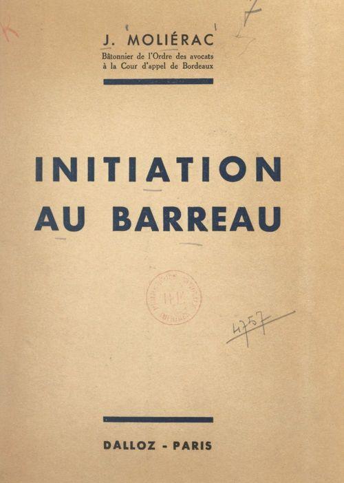 Initiation au Barreau